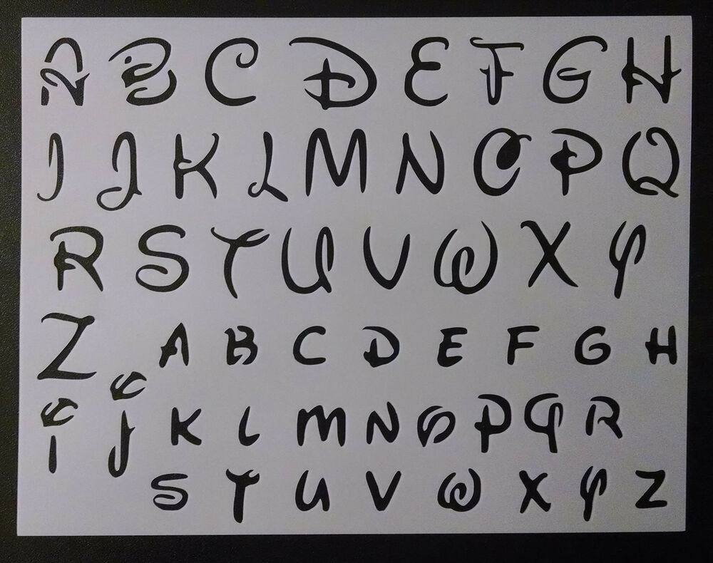 Letter stencils ebay disney alphabet letters 12 font 11 x 85 custom stencil fast free shipping amipublicfo Gallery