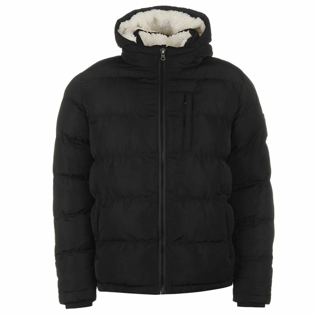 Soulcal 2 Zip Bubble Jacket Mens Gents Padded Coat Top