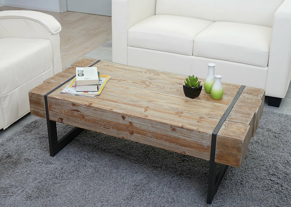 couchtisch hwc a15a wohnzimmertisch tanne holz rustikal massiv 40x120x60cm ebay. Black Bedroom Furniture Sets. Home Design Ideas
