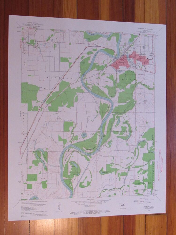 Newport Arkansas 1963 Original Vintage Usgs Topo Map Ebay