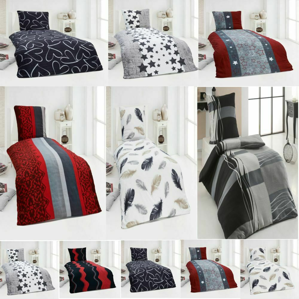 warme winter microfaser thermo fleece bettw sche 135x200 155x220 bettbezug ebay. Black Bedroom Furniture Sets. Home Design Ideas