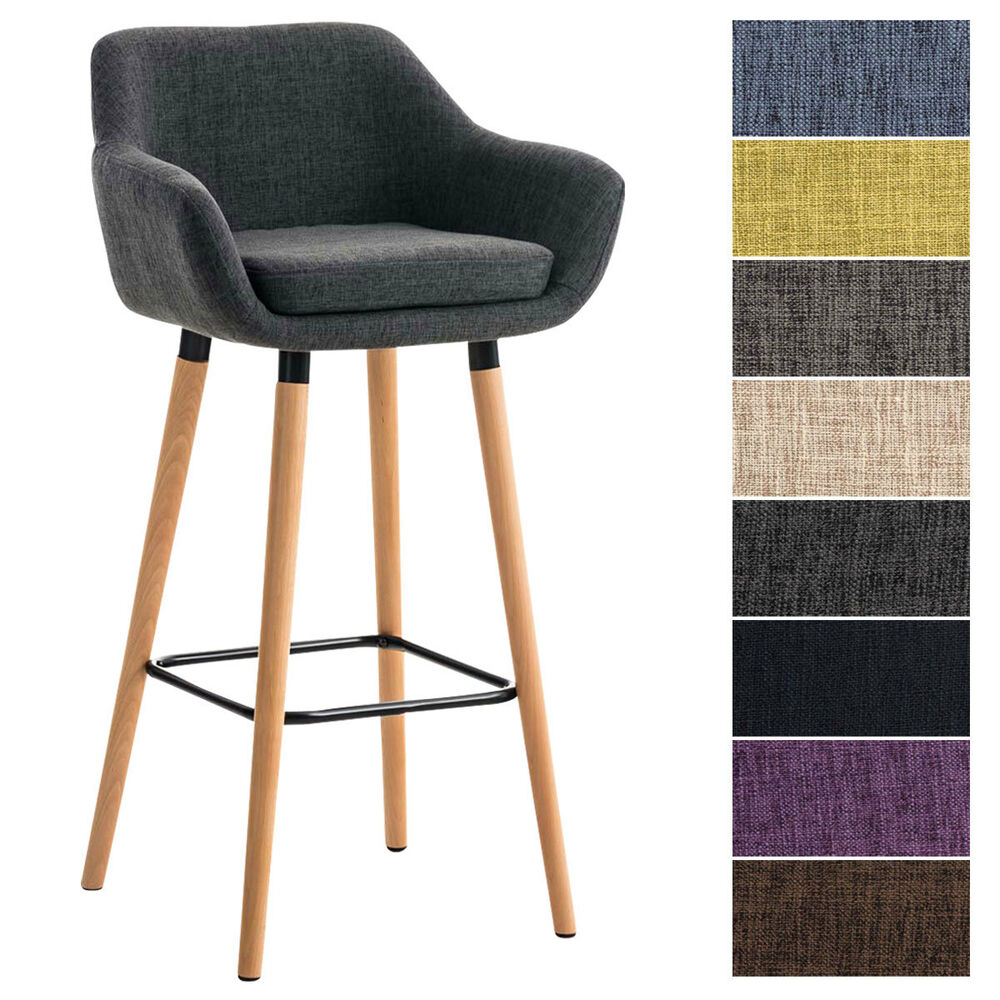 tabouret de bar grant tissu chaise haute de bar dossier. Black Bedroom Furniture Sets. Home Design Ideas