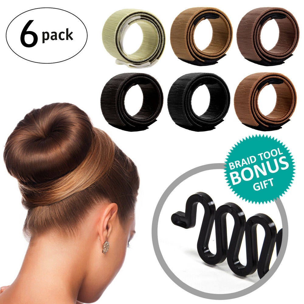 82d7556ee Women Girls DIY Hair Styling Donut Former Updo French Twist Magic Tool