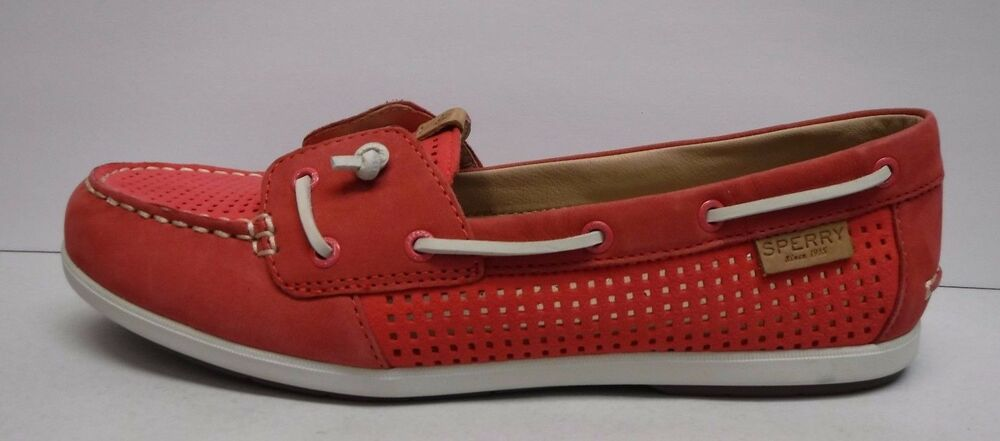 Sperry Top Sider Size 7 Perf Wild Rose Leather Boat Shoe New Womens Shoes