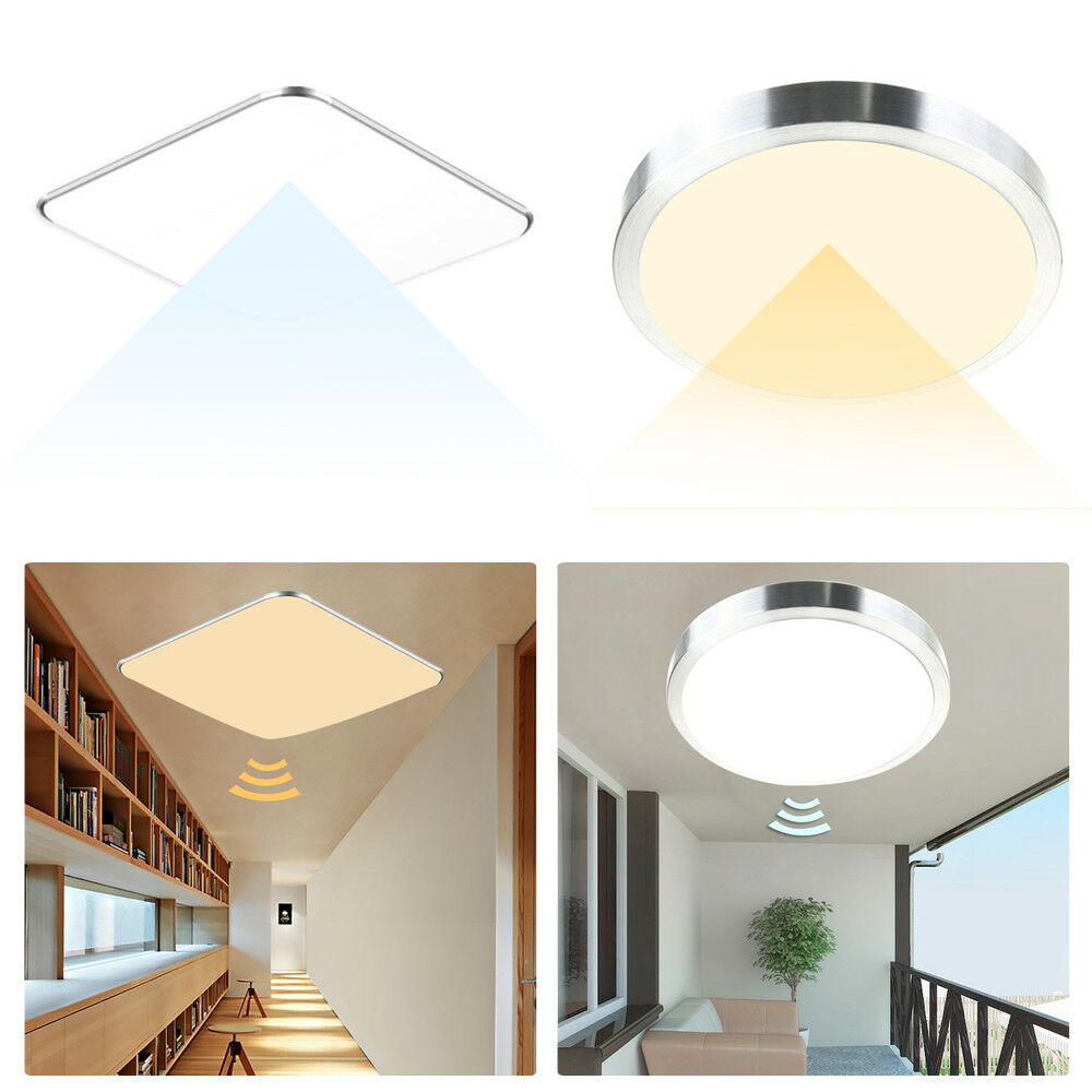 deckenlampe led sensor sensorlampe leuchte flurlampe mit bewegungsmelder radar ebay. Black Bedroom Furniture Sets. Home Design Ideas