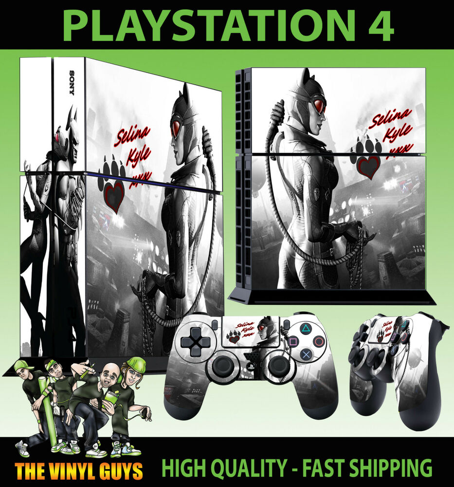 Details about PS4 Skin Catwoman Gotham Girl Sexy Batman Sticker New + 2 Pad  decal Vinyl STOOD