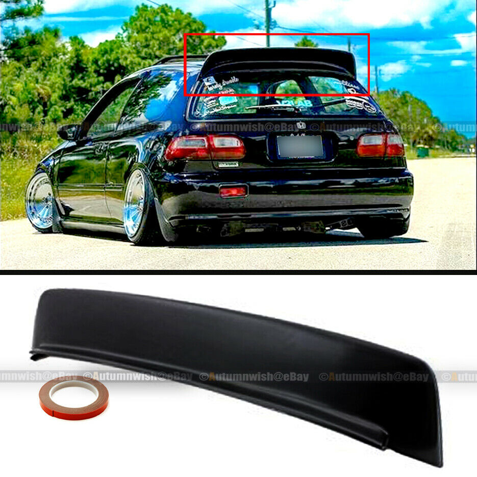 1992 Honda Civic Hatchback Spoiler Eg Abs Black Style Roof Wing Ebay 935x935