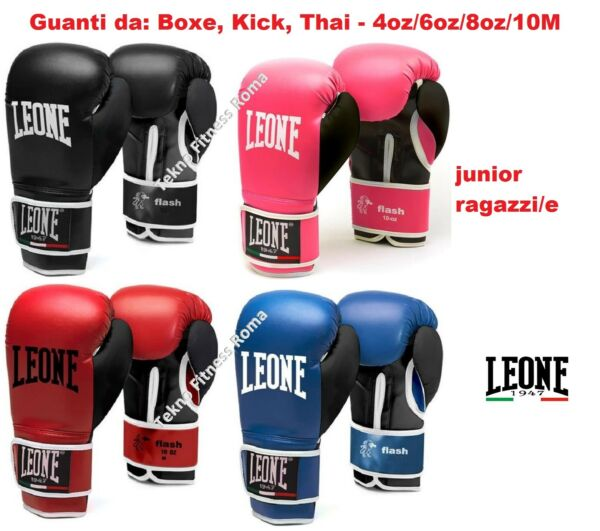 Guantoni da Boxe Leone Flash Junior  GN083 - 4/6/8/10OZ/M BOXE KICK THAY