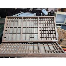 Wooden Printers Tray Letterpress Type Case Drawer Hamilton Vintage