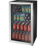 Insignia- 115-Can Beverage Cooler - Stainless steel/Silver
