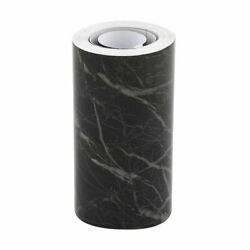 Self-adhesive Marble Paper, Skirting Wall Waist Line, Sticker, Black 16.4Ft
