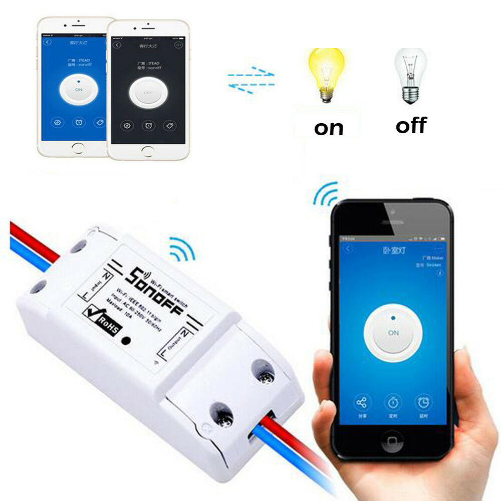 Remote Sonoff Itead Wifi Wireless Smart Switch Module Home
