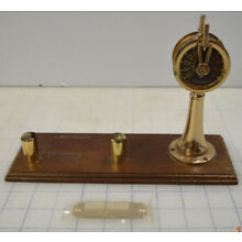 NAUTICAL MARINE TELEGRAPH SHIP ENGINE ROOM Business Card Holder Desk Nameplate