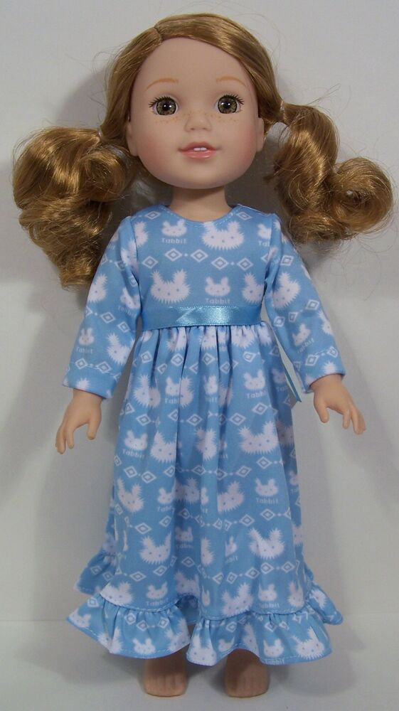 Santa Claus Penguin Nightgown Doll Clothes For 14 AG Wellie Wisher Wishers Debs