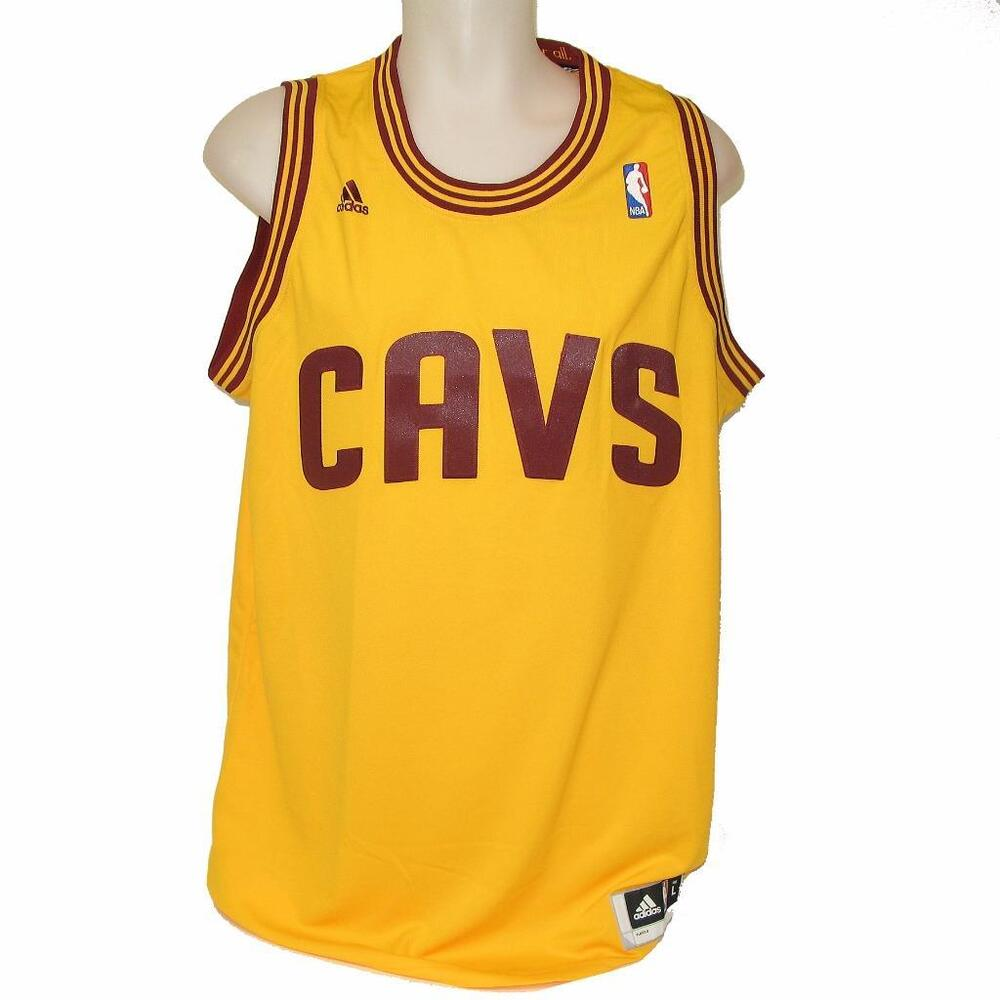 51045421baf New NBA Cleveland Cavaliers Swingman Basketball Jersey Yellow Large XL CAVS