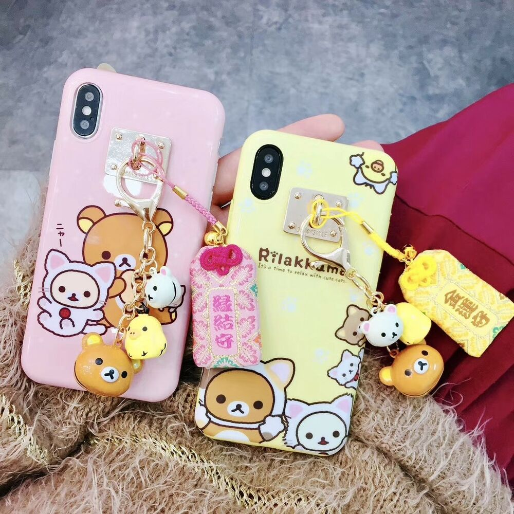 for iphone x xs max xr 8 japan kawaii rilakkuma bell. Black Bedroom Furniture Sets. Home Design Ideas
