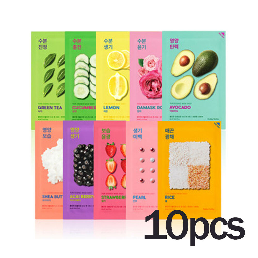 Holika Pure Essence Mask Sheet 10pcs 8809584883793 Ebay Nature Republic Greentea Bundling 3pcs