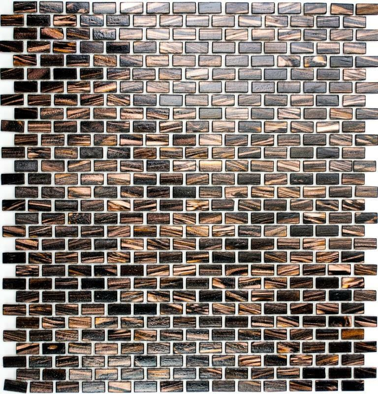 mosaik verbund mix goldstar braun fliesenspiegel k che art brick 120 10matten ebay. Black Bedroom Furniture Sets. Home Design Ideas