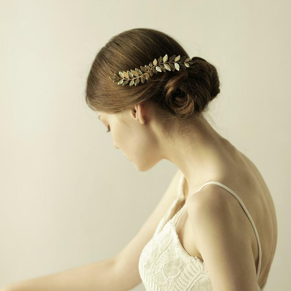 Gold Plated Olive Leaves Vine Hair Comb Wedding Bridal Hair ...