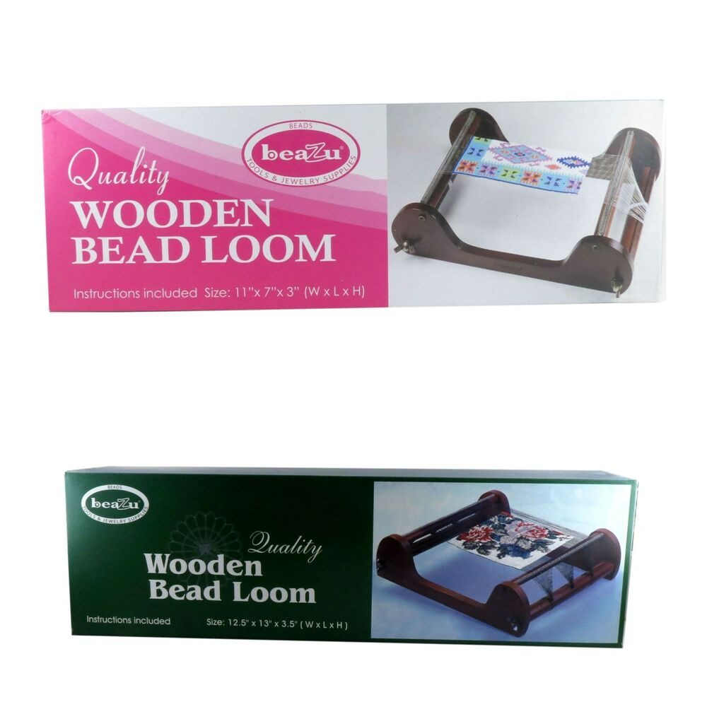 Beazu Wooden Bead Loom Tools Jewelry Supplies Two Sizes 11x7x3 Or