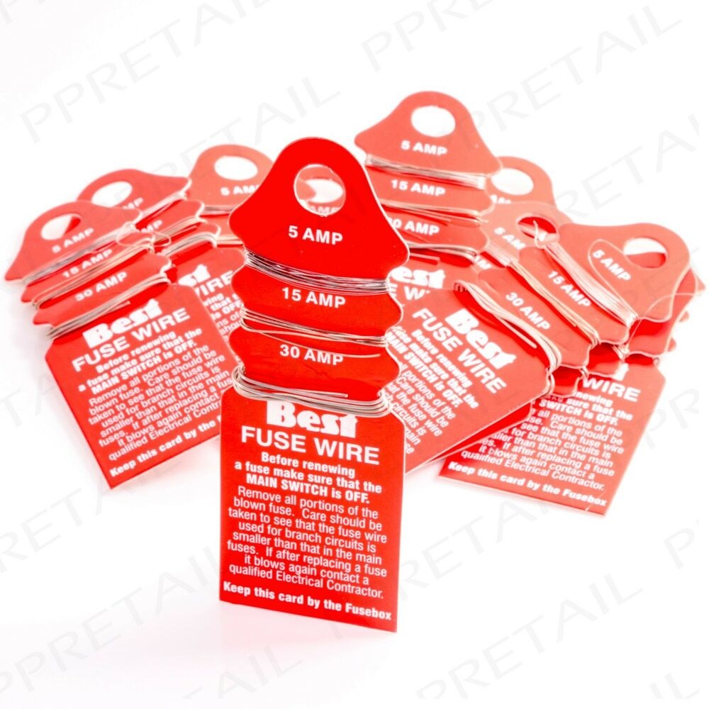 Pack Of 25 Domestic Carded Fuse Wire 5 15 30 Amp Thin Thick A Box Consumer Rewire 5056011462172 Ebay