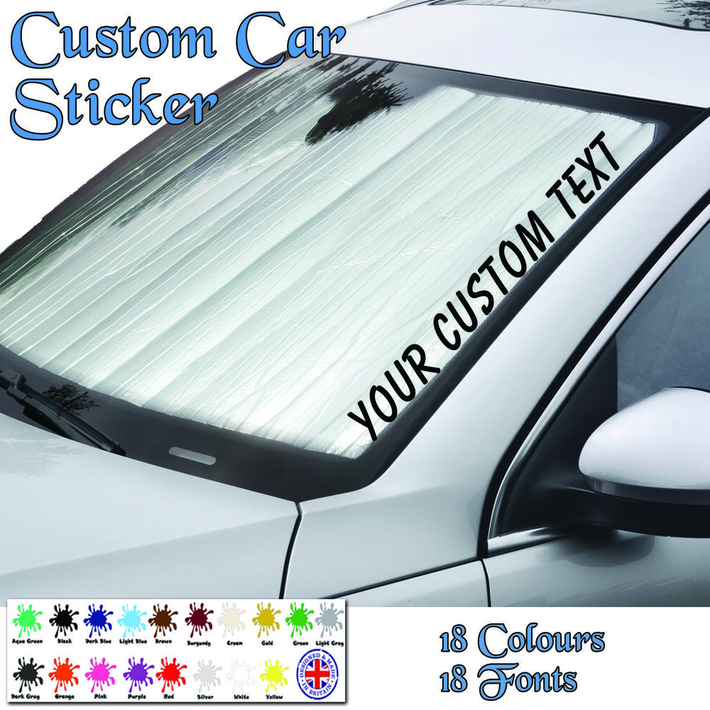 Details about personalised custom text jdm windscreen sticker vinyl decal car van graphics