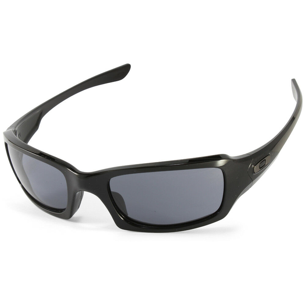1b722732e5d Details about Oakley Fives Squared OO9238-04 Polished Black Grey Unisex  Sports Sunglasses