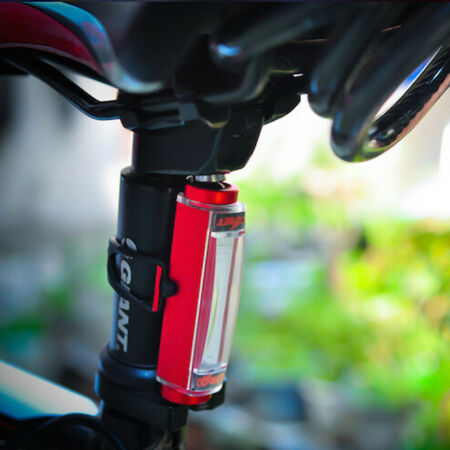 img-New 16 LED USB Rechargeable Bike Bicycle Tail Rear Safety Warning Light Lamp