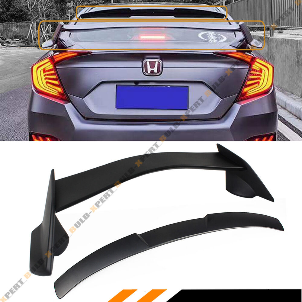 Car Rear Lip Spoiler For Honda Civic 2016 2017 2018 2019: FOR 2016-2018 HONDA CIVIC 4DR TYPE-R STYLE TRUNK WING