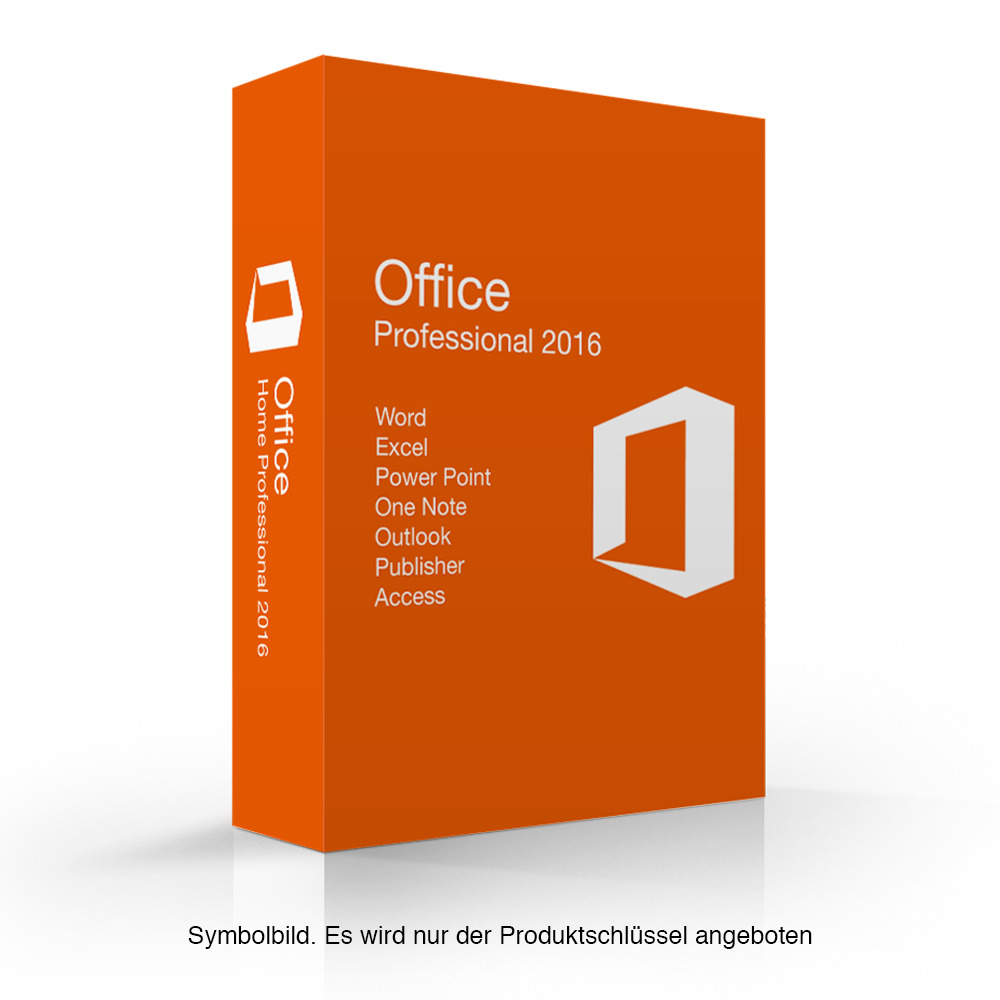 microsoft office 2016 professional vollversion 32 64 bit ms pro esd download ebay. Black Bedroom Furniture Sets. Home Design Ideas
