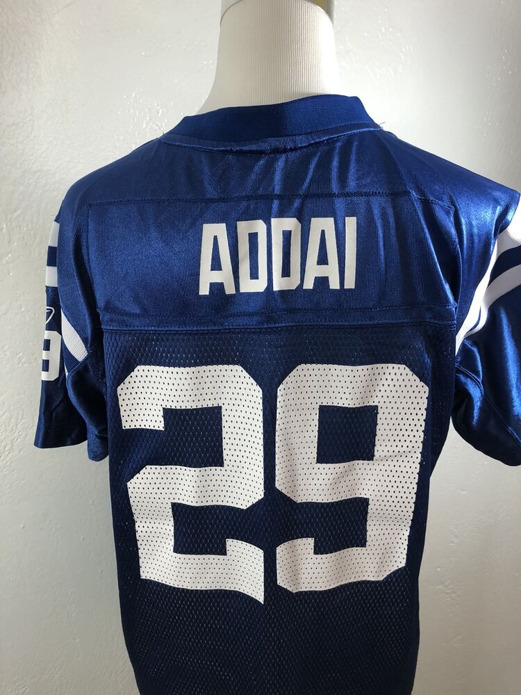 d747fa35fb3 NFL Indianapolis Colts Addai  29 Youth XL (18-20) Jersey Reebok Unisex  Football