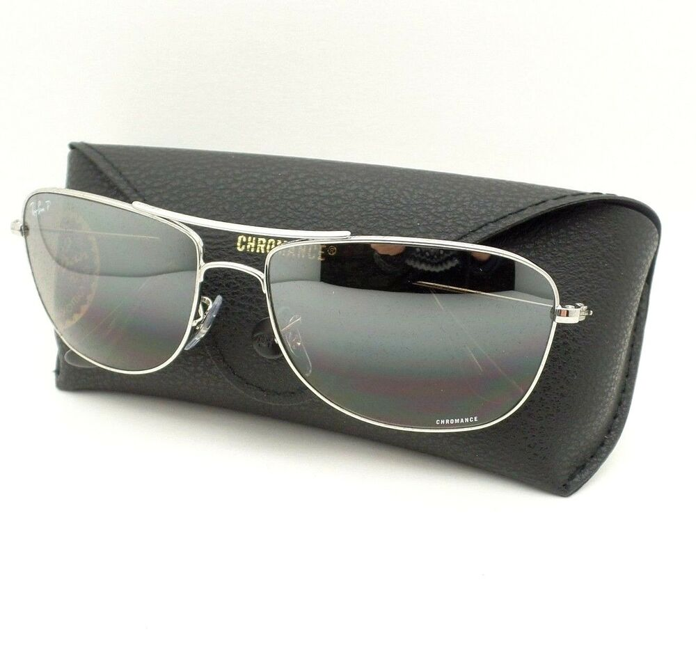 33e7b1e4bd Details about Ray Ban 3543 003 5J Silver Mirror Polarized 59mm Sunglasses  New Authentic
