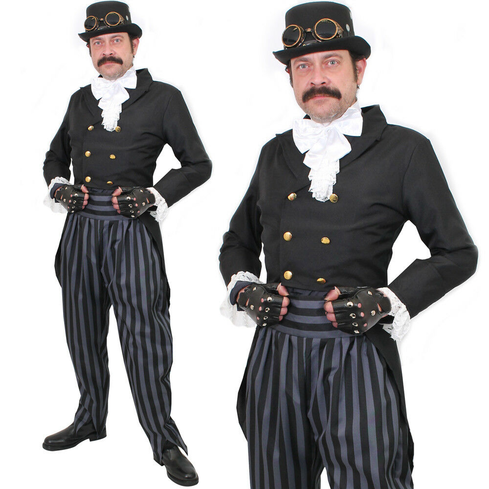 ADULT DELUXE STEAMPUNK COSTUME MENS VICTORIAN STEAM PUNK ...