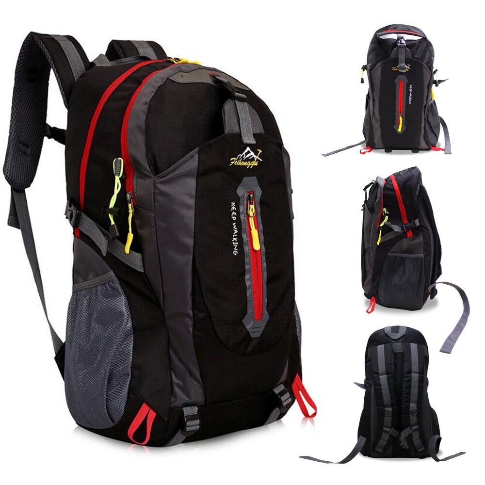 2eb98deb2f Details about 40L Travel-Backpack Hiking Backpack Camping Outdoor Sports  Daypack Waterproof