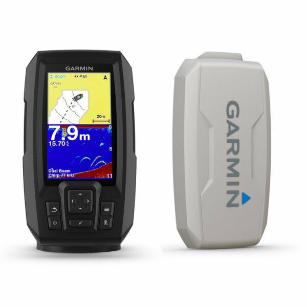 Garmin STRIKER Plus 4 with Dual Beam Transducer and Protective Cover Bundle