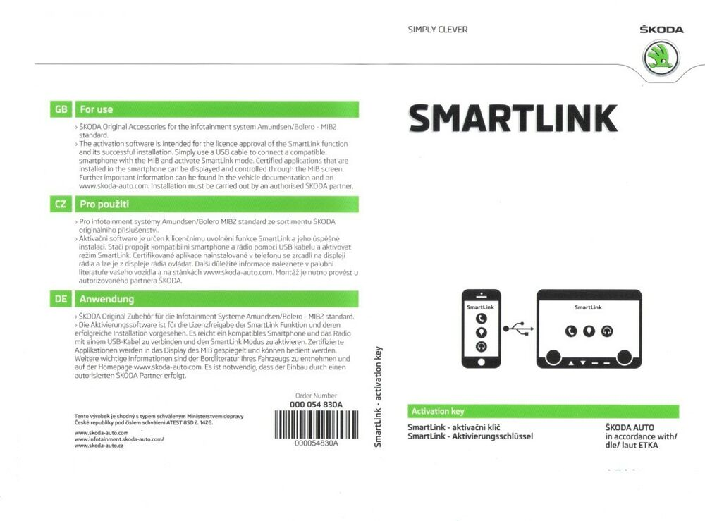 Skoda Smartlink Activation – transport