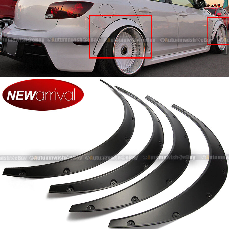 Will Fit S10 Wheel Fender Flares Wide Body Flexible Abs Plastic