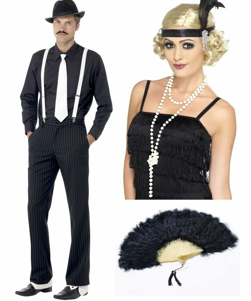 Gangster Flapper Moll Mobster 1920u0027s 30u0027s Chicago Fancy Dress Costume Hen Stag | eBay  sc 1 st  eBay & Gangster Flapper Moll Mobster 1920u0027s 30u0027s Chicago Fancy Dress ...