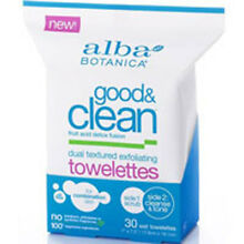 Good and Clean Dual Texture Exfoliating Towelettes 30 C