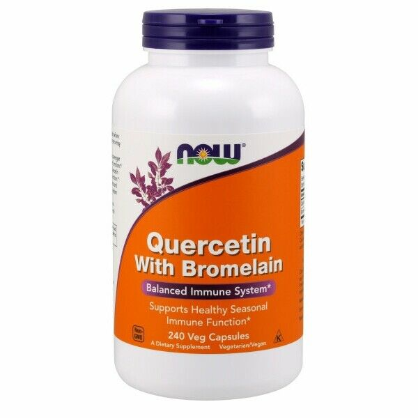 Quercetin with Bromelian 240 Vcaps by Now Foods