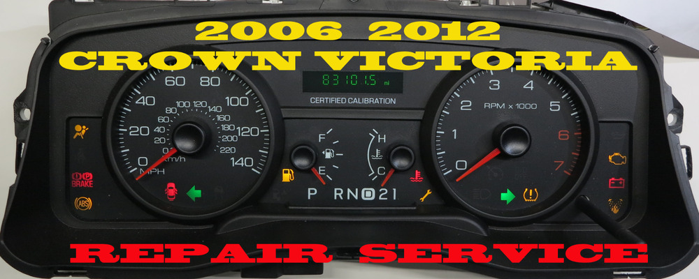 Details About    Ford Crown Victoria Instrument Cluster Repair Service
