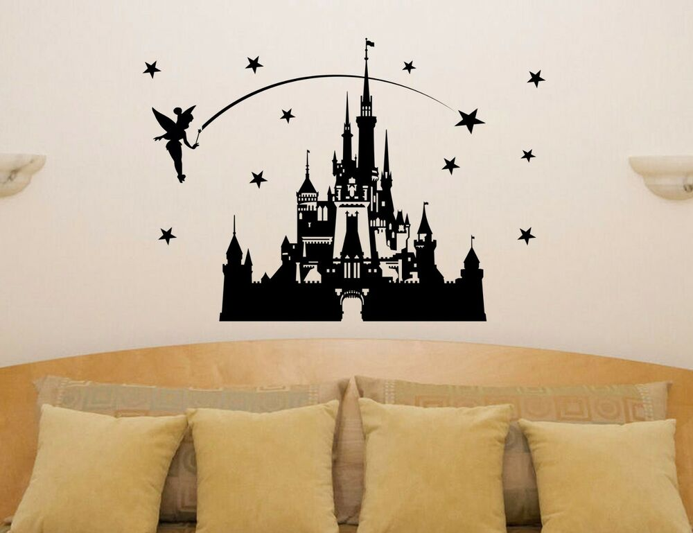 Disney Castle Fairytale Princess Tinkerbell Wall Art Decal ...