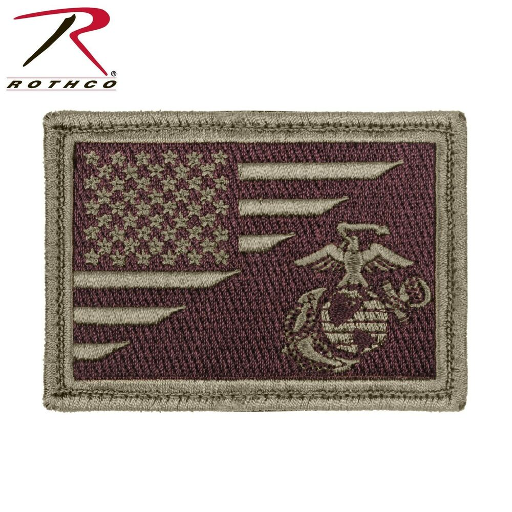 Details about Rothco US Flag   USMC Globe and Anchor Morale Patch - Hook    Loop Military Patch 272d541610d