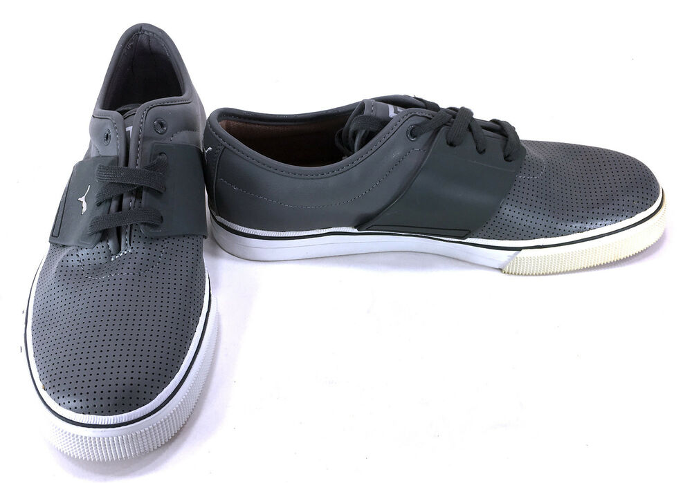ce5370a131 Details about Puma Shoes El Ace Leather Perforated Gray White Sneakers Size  9