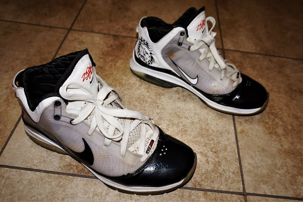 795a78b2253f Details about Nike Lebron VII 7 POP Black White Red Concord 408758-101 Size  10.5