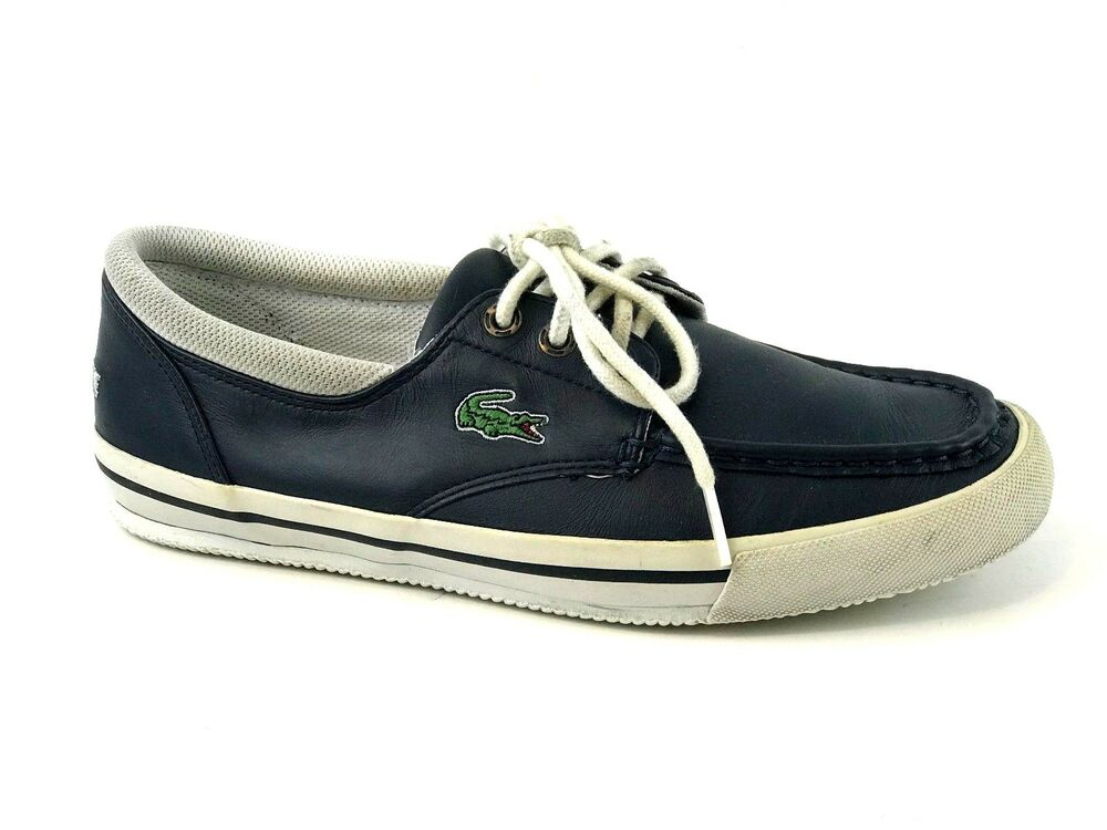 9b23f4bf63df Details about Lacoste Shakespeare Men s Navy Sneaker 3 Casual Shoes Size US.  8 UK. 7 EU. 40.5