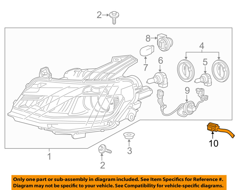 Chevy 6 0 Engine Diagram Rear Cover Electrical Wiring Diagrams 2006 Gm Chevrolet Oem 16 17 Camaro Headlight Head Light Lamp Harness Ford 73 Parts