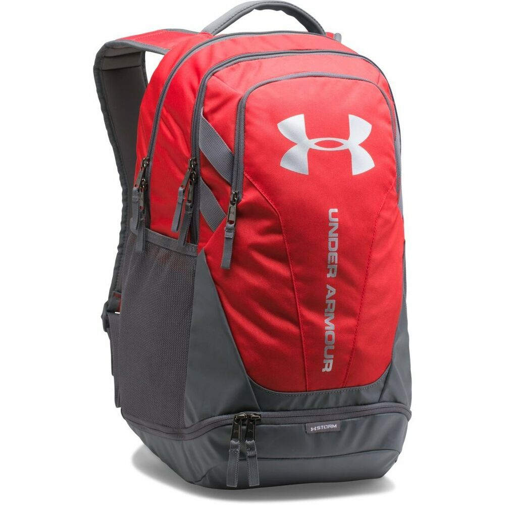 3a2d5a3010 Details about Under Armour UA Storm Hustle 3.0 Backpack Back Pack Bag - Red  - (1294720 600)