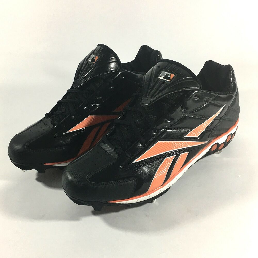 Reebok Pro High N Tight Low Mens Size 14 Baseball Cleats Black And Orange  Shoes 884560807589  32ad8caa1