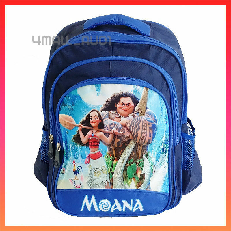 dd04714cdec Details about Kids Boys Campus Picnic Shoulder Backpack Large School Bag  Disney Moana Maui
